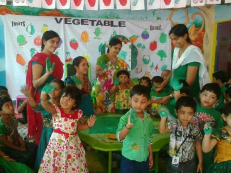 Green Day at claps  - by Claps WiKids Pre Schools , Hyderabad., Hyderabad
