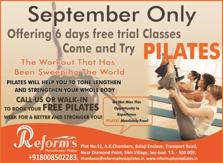 Try Today! - by Reform's physiotherapy and Pilates, Hyderabad