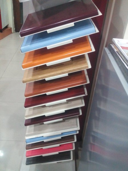 Customised Kitchen Door Cover Panels Available in Different Colors - by Lorven kitchen interiors, Vishakhapatnam