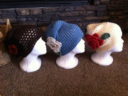 Large adult hats..$20 each - by Lynnsknits, Greater Sudbury Division