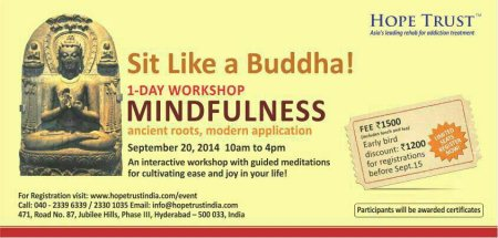 Hope Trust rehab is getting ready to host the Mindfulness workshop tomorrow.  - by Hope Trust, Hyderabad