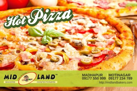 Let your family taste that best pizza @ Midland Bakers, Hitech City...Let the weekend be special !!! Enjoy the best Indian Pizza today !!! - by Mid Land Bakers & Confectioners, Hyderabad