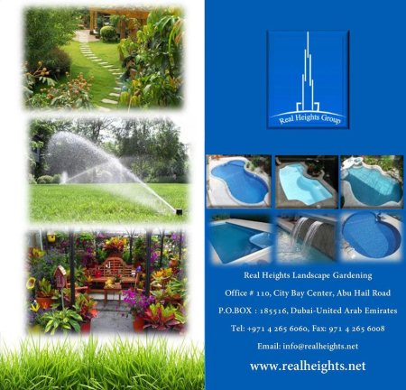 Real Heights landscape Gardening service - by Real Heights Group, Dubai