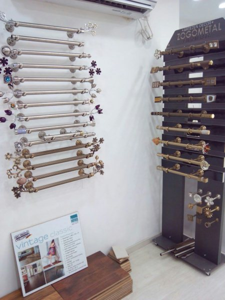 Variety of curtain rods available - by Furnishing Forum, Bangalore