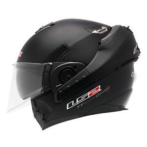 LS 2 CONVERTER HELMET,  TO USE FULL AND HALF BOTH WITH THE DOUBLE VISOR ,  AND THE INTERIER PEDDING REMOVABLE & WASHABLE . - by Rider's Point, Ahmedabad