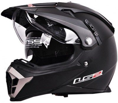 LS 2 58 HELMET ,  ITS A MOTOCROSS HELMET IN A MATT FINISH ,  WITH A DOUBLE VISOR &  WASHABLE LINER .  - by Rider's Point, Ahmedabad