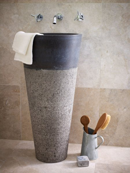 Stone Wash Basin : Dooa high quality free standing stone wash basin with multi colours ...