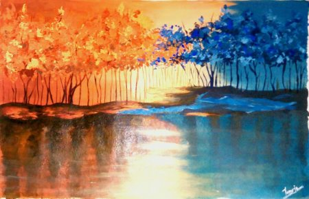 This is unique oil painting of nature beauty crafted by our expert.  Please contact such type of  oil painting as per your need. - by ART GALLERY,