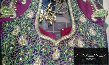 one of our latest designer blouse with full cut work on the back.... - by NEW LOOK BOUTIQUE, Bangalore