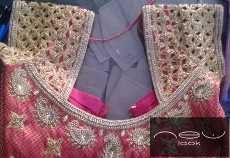 Bridal blouse with heavy zardozi  work  - by NEW LOOK BOUTIQUE, Bangalore