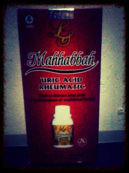 Obat Herbal Asam Urat Mahabbah merupakan ramuan yang diracik dari bahan-bahan terpilih untuk membantu mengatasi gangguan kesehatan akibat berlebihannya Zat Purin di dalam sistem metabolisme tubuh manusia.   Mahabbah sangat mudah dikonsumsi  - by Obat Herbal Alami, Cilegon