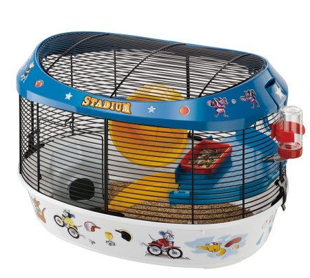 Hamster cage with coloured stickers Made by ferplast, Italy  - by Glenand Pet Store - Indira Nagar, Bangalore