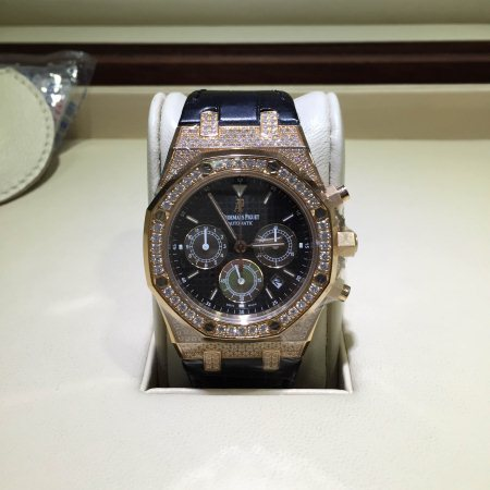 "Audemars Piguet Royal Oak Ref : 26128OR.ZZ.D002CR.01 Case:Pink Gold Bezel:Diamond Size: 39"" Preowned Box and Paper Call for Price - by Mulia Arloji, South Jakarta City"