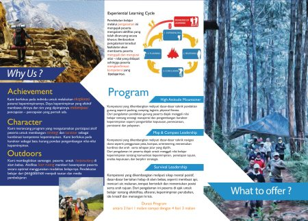 this is brochure we create for outdoor training company in jakarta.  - by Sinergi.Biz, South Jakarta City