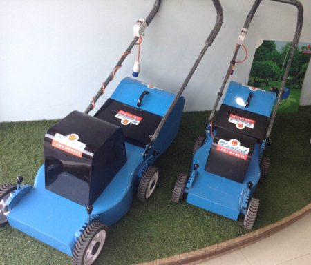 Rotary type electric lawn mower with actual zero maintanance - by Shree Khodiyar Garden Tools, Ahmedabad