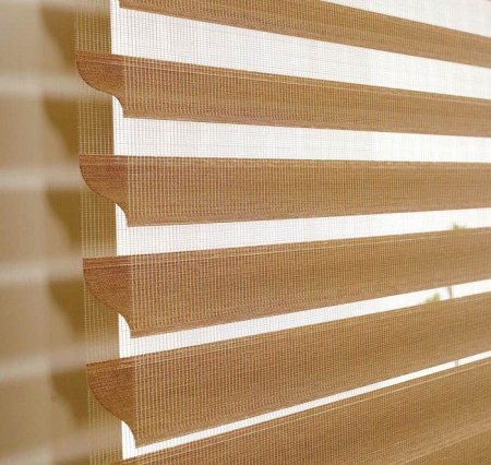 """Rollup """"Silvette"""" Blinds For Premium Look In Residences Or Commercial Projects - by Best Buy Interiors, Hyderabad"""