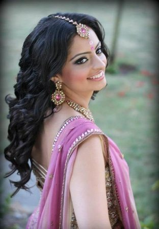 The Open Curly Indian Long Hairstyle - by Gloss Beauty Services, Delhi