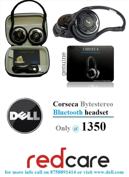 Enjoy With Dell Wireless Headphone..Corseca - by Red Care, Ahmedabad