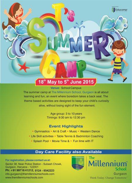 Summer Camp at The Millennium School Gurgaon - by The Millennium School | @+91-7533007721 | Gurgaon, Gurgaon
