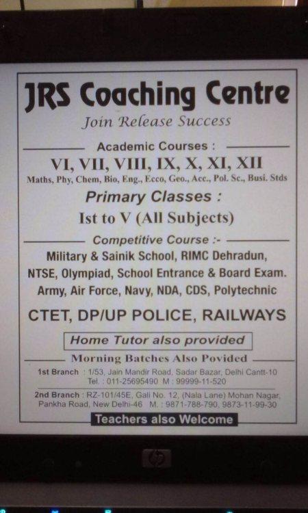 Rms/RIMC coaching classes  Military/Sainik school  - by JRS Coaching Centre, Delhi
