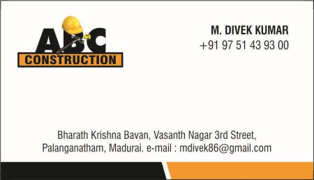 All type of construction  - by ABC construction, Madurai