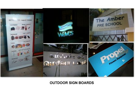 Out Door Signages - by Excel Mart, Chennai