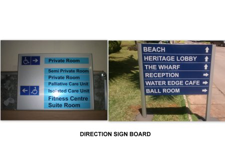 Direction sign Board - by Excel Mart, Chennai