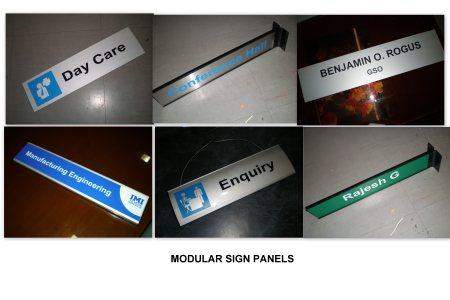 Aluminium Modular sign panel  - by Excel Mart, Chennai