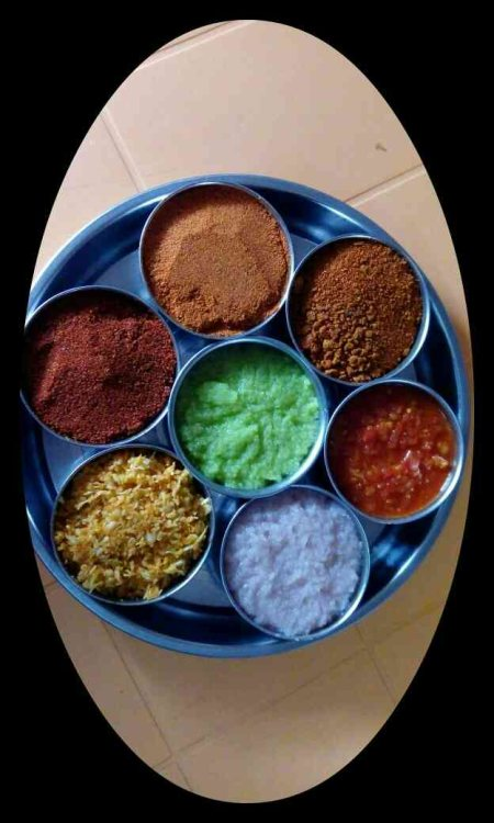 yummy  7 varieties of tasty and different flavoured of chutnies...... waiting for you.... - by Hotel jain dal bati, kherwara