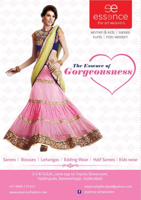 A recent promotion for a leading boutique by name Essence.  - by Flipside Advertising Pvt Ltd, Hyderabad