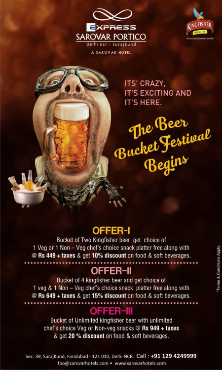 Let's have some chilled beer ....................... - by Express Sarovar Portico, Faridabad