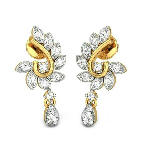 super diamond earrings - by Valli Diamond Palace, Chennai