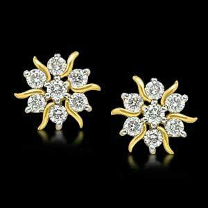 super earrings in diamond - by Valli Diamond Palace, Chennai