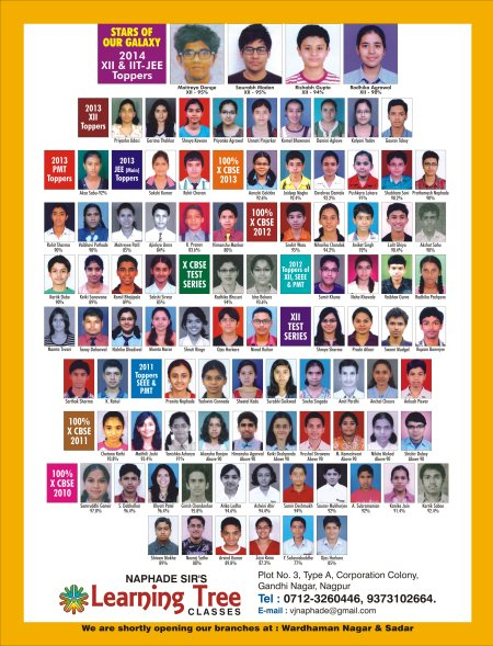 Best Coaching Classes IIT-JEE, AIEEE, PET, PMT in Nagpur. - by Learning Tree, Nagpur
