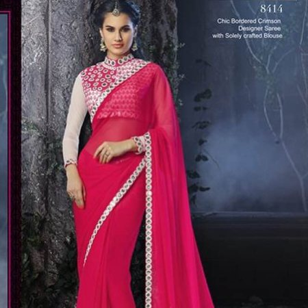 Heavy blouse fancy saree - by Manali Lifestyle, Pune