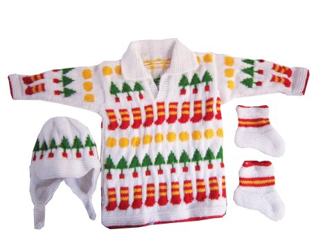 Knitting House Hand Knitted Christmas Design Sweater Rs. 800 - by Knitting House, Amritsar