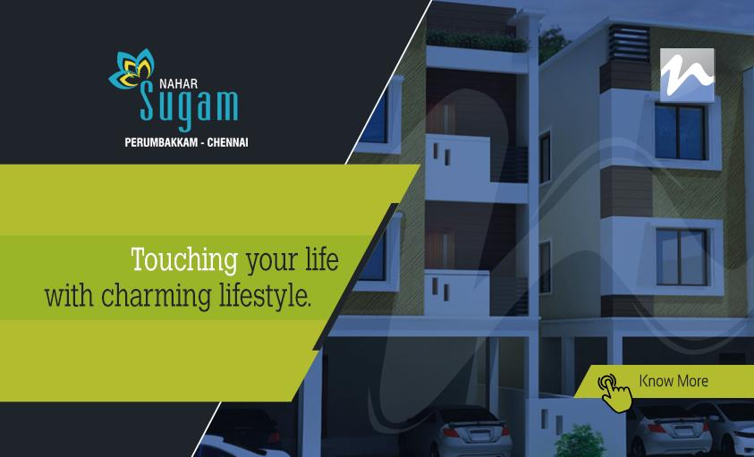 Touching Your Life with Charming Lifestyle.  For More Details:   www.sugam.nahars.com  |  www.nahars.com  #nahars #sugam #perumbakkam #chennai #luxury #apartments #home - by Nahars, Chennai
