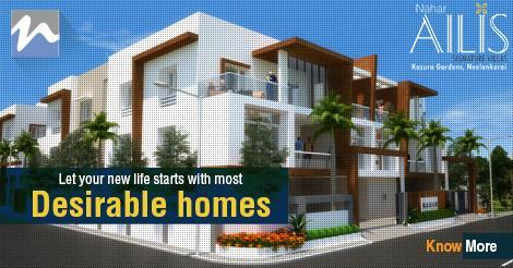 Let your new life starts with most Desirable Homes  www.ailis.nahars.com   #ailis #nahars #neelankarai #ecr #chennai #luxuryvillas - by Nahars, Chennai
