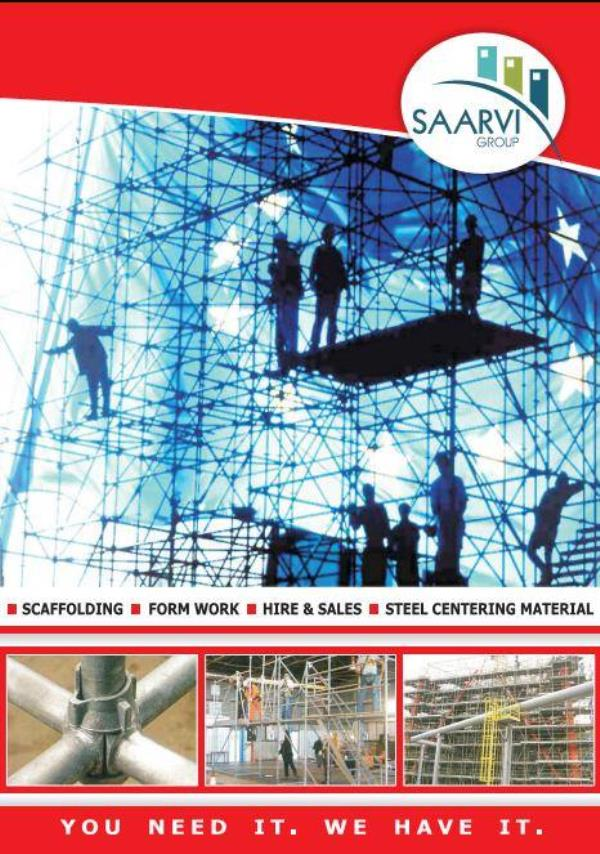 We are prominent manufacturers and supplier of Scaffolding & Shuttering Products on Hire / Trading basis. in Mumbai, Navi Mumbai, Thane & Pune. Our Products are known for their durability & sturdy design. In addition to the above, we also  - by Saarvi Group, Mumbai