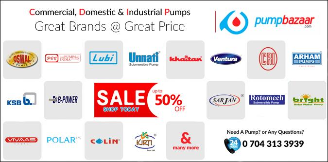 Commercial, Domestic and Industrial Pumps of the leading brands in India are sold on pumpbazaar.com. Visit the website to check it out. - by Pump Bazaar, Ahmedabad