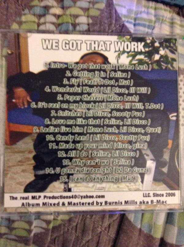 Check out our cd We Got That Work by Various Artists https://itun.es/us/MUuK6 - by Najai Productions,