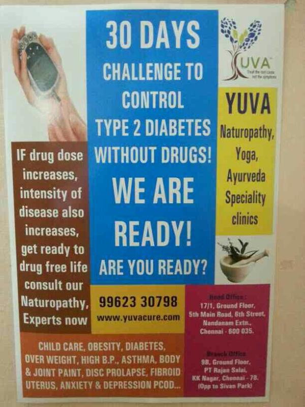 Diabetes naturally Treatment in chennai  - by Yuva Cure Chennai, chennai