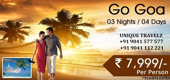 GOA GOING CHEAP - by UNIQUE TRAVELZ, Chandigarh