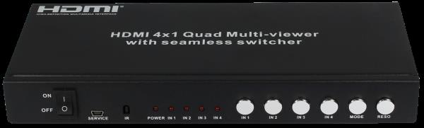 HDMI 4X1 Seamless Switcher   Compliant with HDMI 1.3a, HDCP 1.2;Supports multiplexed HDMI 4-input and 1-output;Supports up to 1080p High Definition resolution;Support 4by1 Quad Multi-viewer and seamless switch;Support scaler up, scaler down - by LINETEK - BEST HDMI PRODUCTS IN INDIA, Delhi
