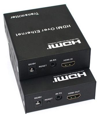 HDMI Extender 120m    Support 3D, HDCP, 4K*2K. Support 120M Ethernet, Any one of the four Ethernet ports in the receiver and sender can be used as the input of the Ethernet signal, the other Ethernet ports can connect three PC to go surfing - by LINETEK - BEST HDMI PRODUCTS IN INDIA, Delhi
