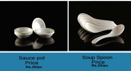 Silver pine exports, manufactures and supplies Crockery, Cutlery, Glassware, dinner set, full plates, soup bowls, soup spoons, cups, saucers, salt pots, pepper pots, coffee mug set, cup saucer set, tea set cups.   soup spoon dealer in delhi - by Crockery Cutlery Glassware Dealer| SILVER PINE, Delhi