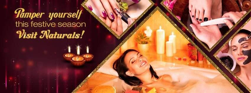 Pamper yourself this festive season ! Call to know the festive offers and packages on services - 08065770000 - by Naturals Lounge  Salon Spa Makeup Studio, Bangalore