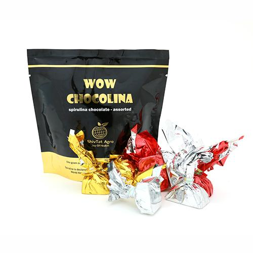 To share with friends & relatives and to satisfy all the taste buds, Assorted Chocolates Blended With Spirulina stands-in... - by WOW CHOCOLINA, Bangalore