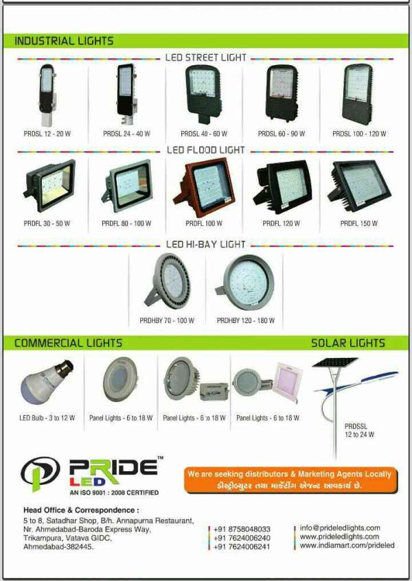INDUSTRIAL & COMMERTIAL LED LIGHTS - by PRIDE LED, Ahmedabad