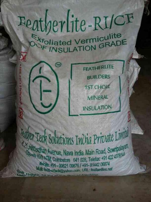 SUPPLIERS OF LIGHTWEIGHT CONCRETE EXFOLIATED VERMICULITE  - by Feather Teck Solutions India Pvt Ltd, Coimbatore